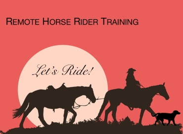 remote horse rider training logo